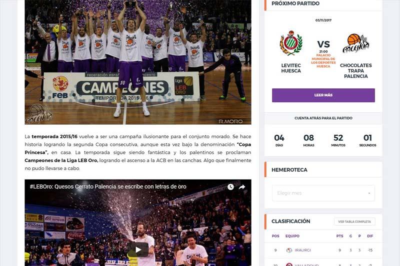 Palencia Baloncesto versión 4.0