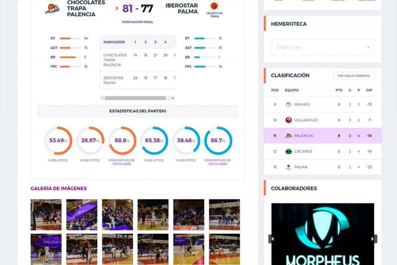 PalenciaBasket.com - estadísticas detalladas