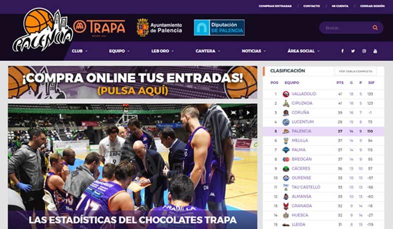 Programación web en la página de Palencia Baloncesto