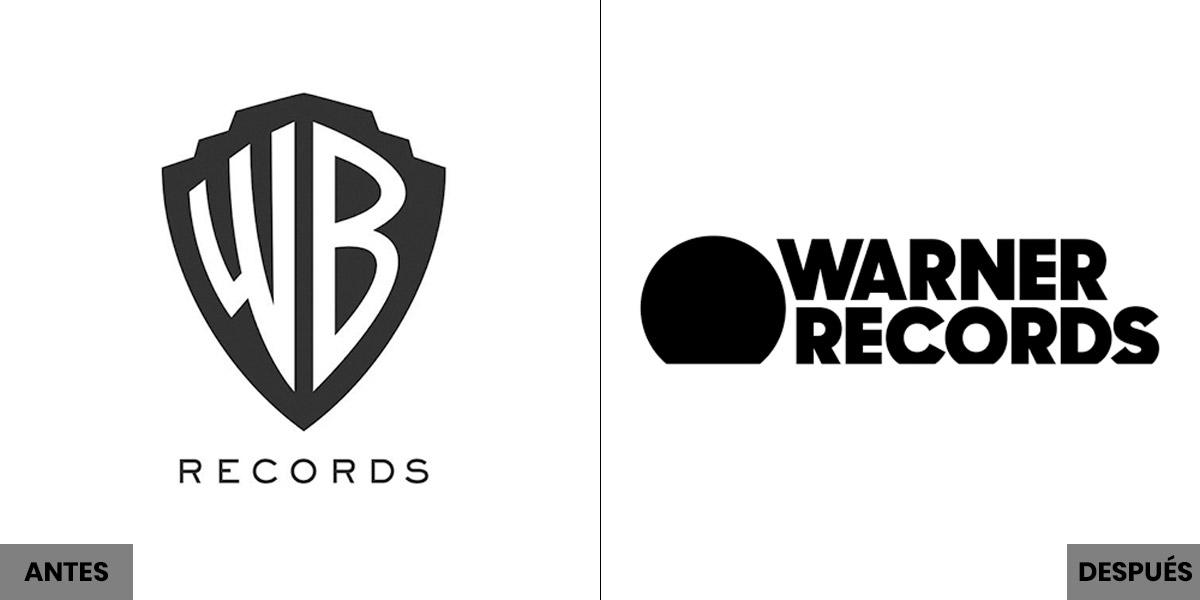 El antes y el después del logotipo de Warner Bros
