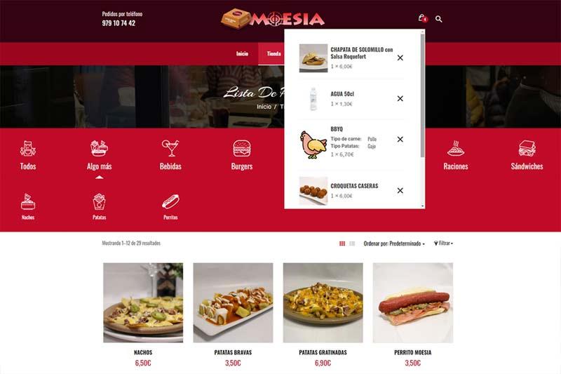 Comida para llevar en Palencia Burger Palencia - Carrito de la compra