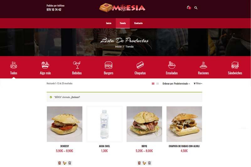 Burger Palencia - Lista de Productos