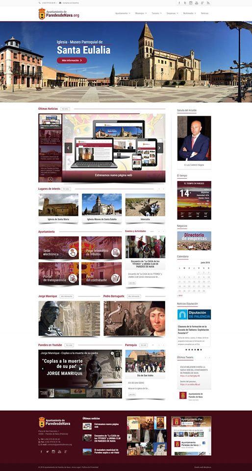 ParedesdeNava.org - Nueva web del Ayuntamiento de Paredes de Nava realizada en Morpheus