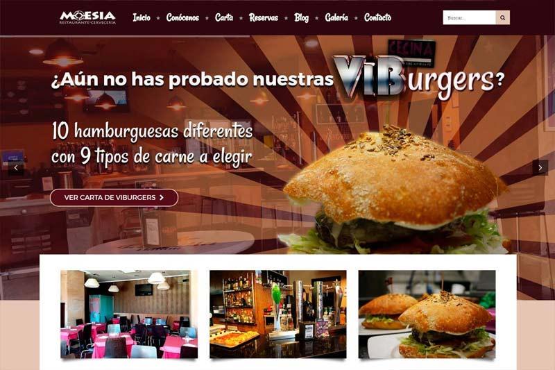 Diseño web Palencia Restaurante Moesia